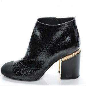 Chanel black boots size 9